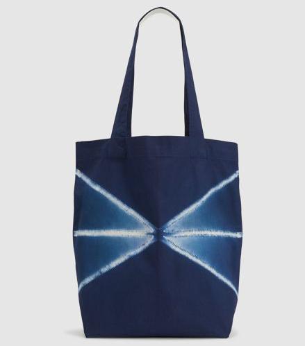 Eileen Fisher Organic Cotton Shibori Tote Bag