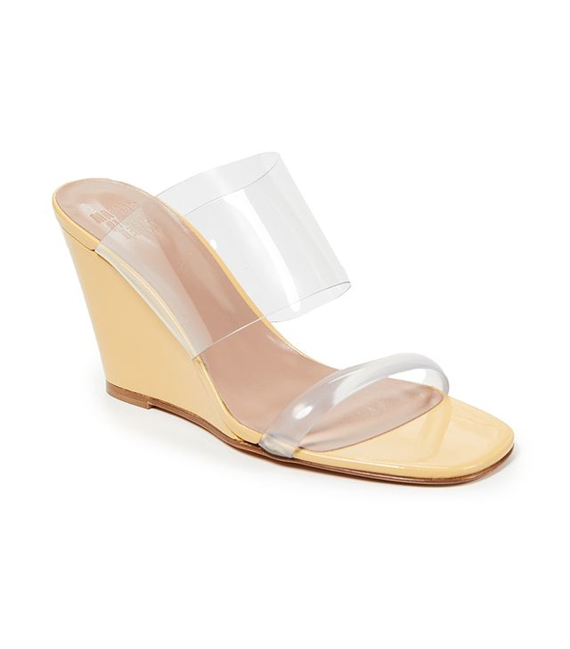 Olympia PVC Wedge Sandals