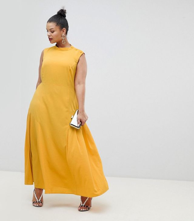 ASOS DESIGN Curve maxi dress with pleat detail