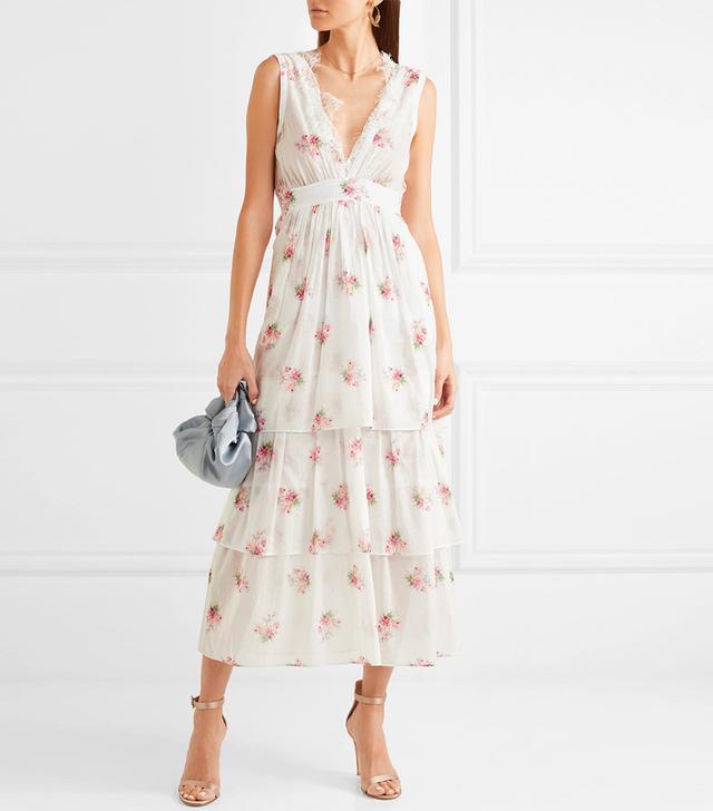 Dale Lace-Trimmed Floral-Print Cotton-Voile Dress