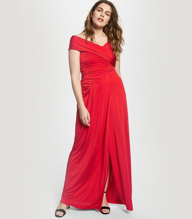 Violeta by Mango Asymmetric Neckline Dress