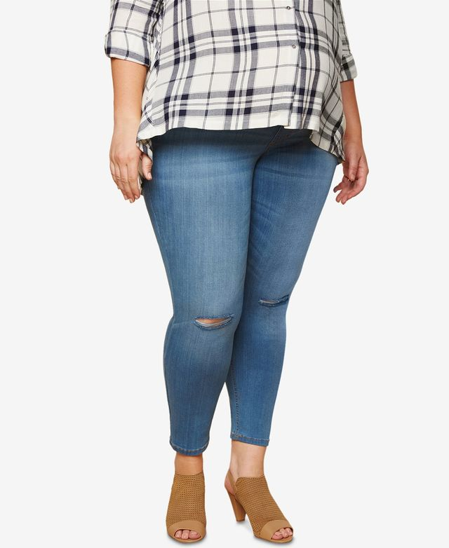 Motherhood Maternity Medium Wash Skinny Jeans