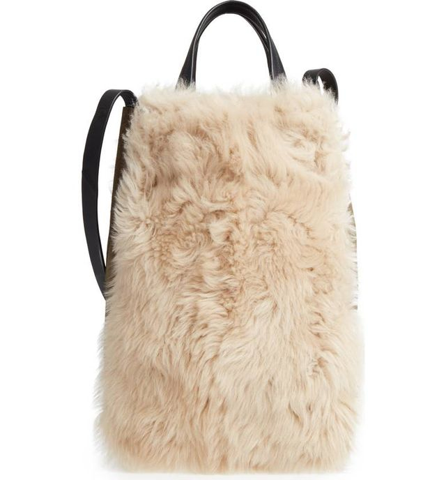 Rag & Bone Walker Convertible Genuine Shearling & Suede Tote -