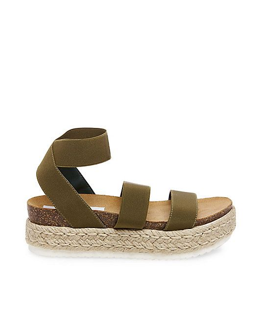 Steve Madden Kimmie Sandals in Olive