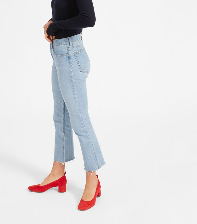 High Rise Skinny Crop Raw Hem Jean