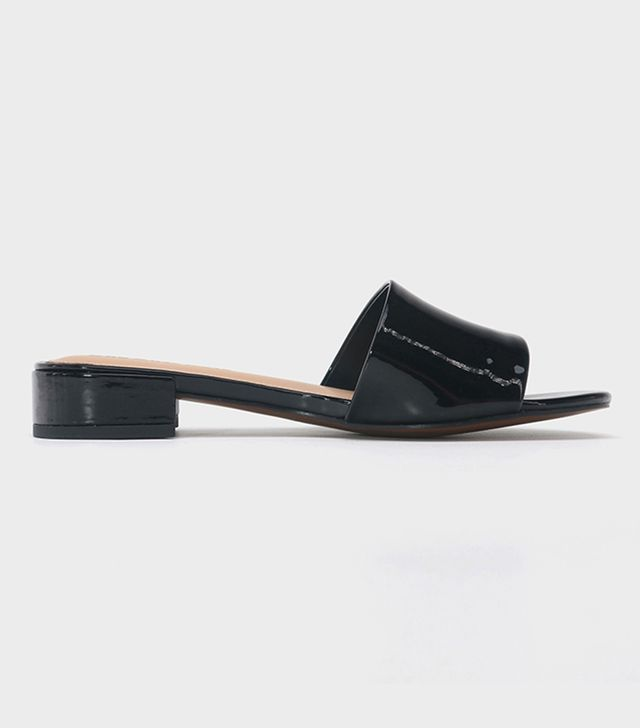 Who What Wear Mae Patent Heeled Slide Sandals