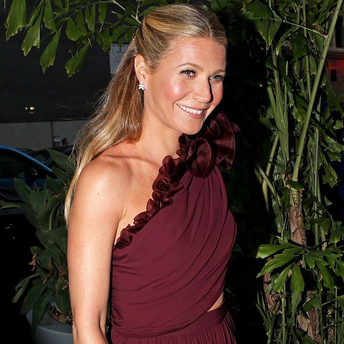 Gwyneth Paltrow Wore an Oscar-Worthy Gown to Her Engagement Party