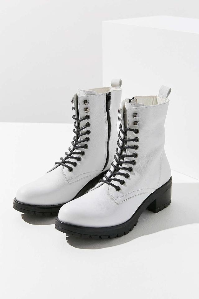 Zoe Leather Combat Boot