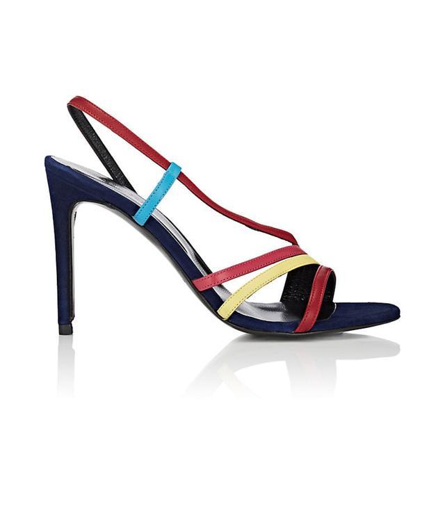 Barneys New York Suede Slingback Sandals