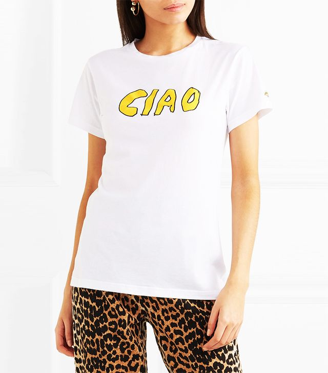 Ciao Printed Cotton-Jersey T-Shirt