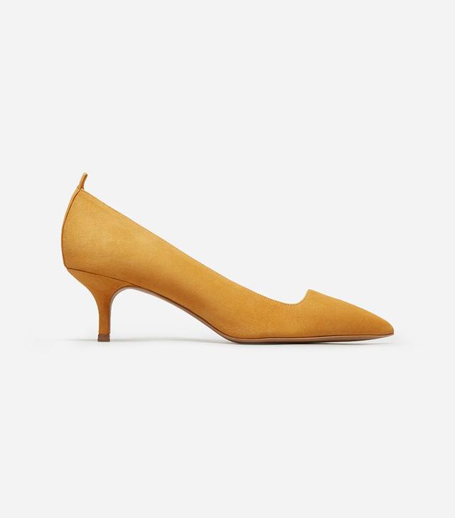 Women's Editor Heel by Everlane in Mustard Suede, Size 11