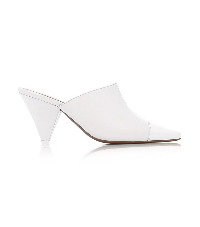 Psycho PVC and Leather Mules