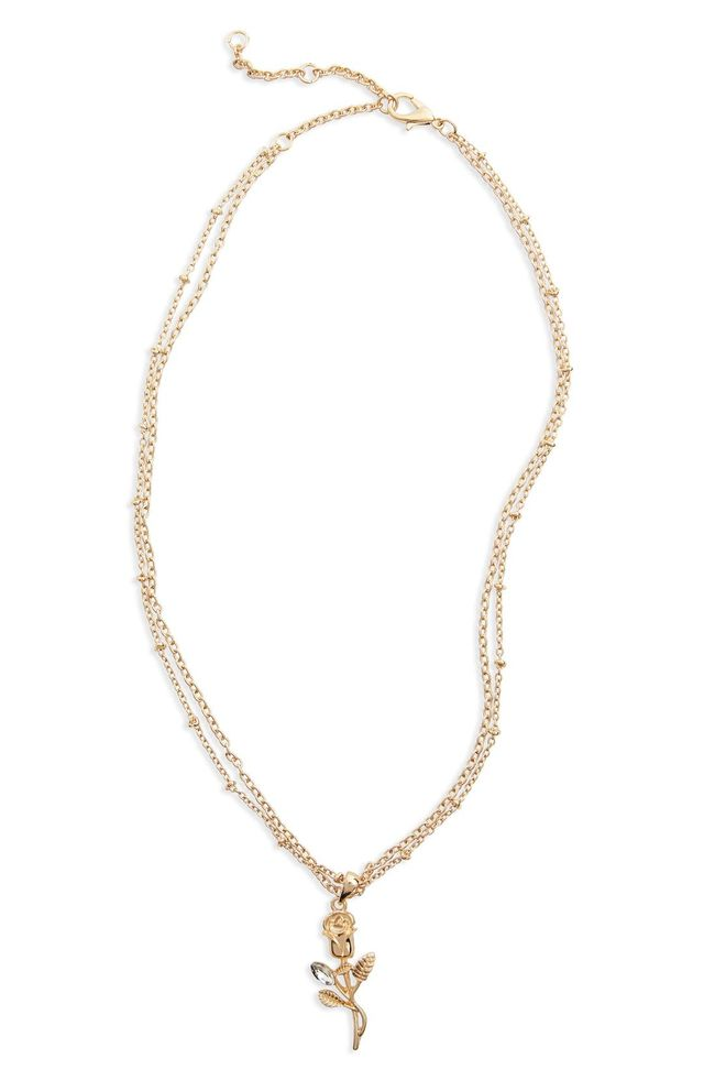 Delicate Rose Pendant Necklace
