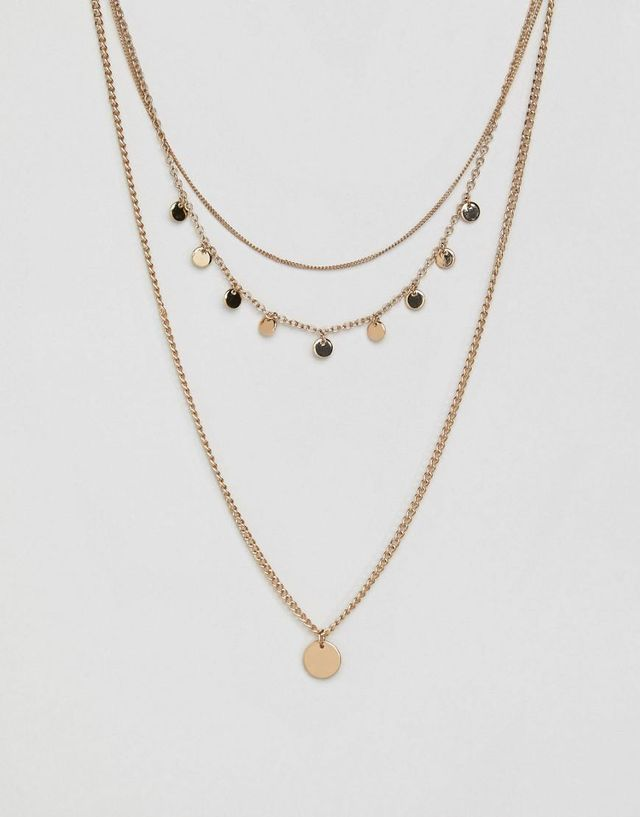 Multi Necklace With Pendant