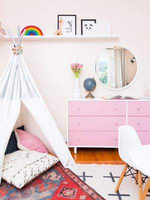 "This ""Playful Yet Sophisticated"" Light Pink Nursery Is a Whimsical Dream"
