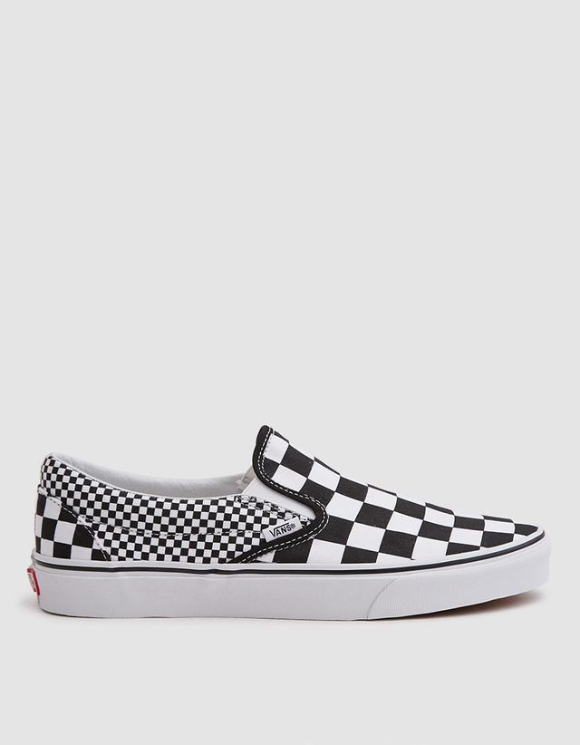 Classic Slip On Sneaker in Black White Checker