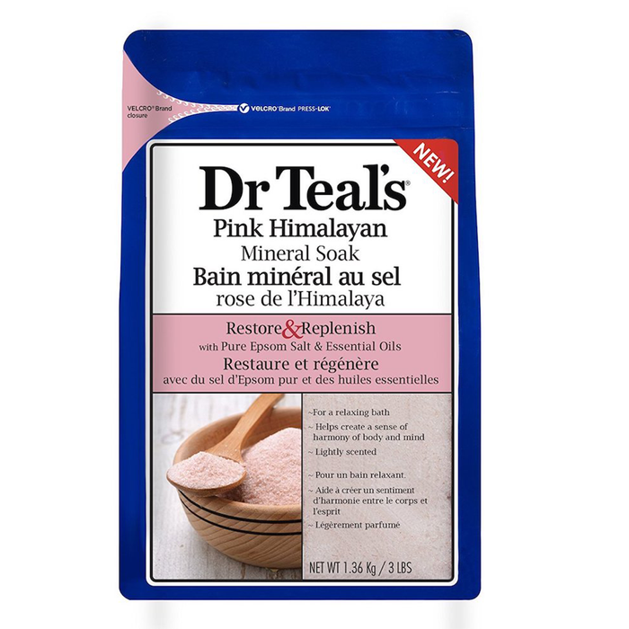Restore & Replenish Pink Himalayan Epsom Salt Soak by Dr Teal's