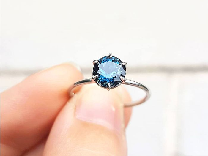 Spring 2018 Engagement Ring Trend - Blue Stone Engagement Rings