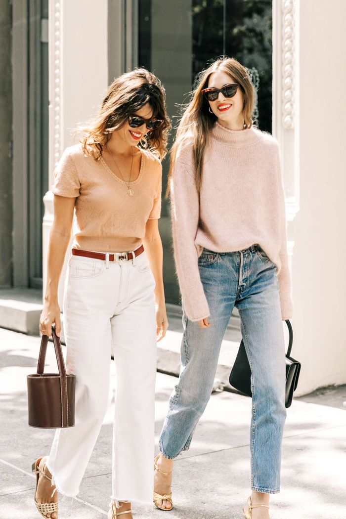 Straight-Leg Jeans Outfits That're Straight-Up Perfect | Who What Wear