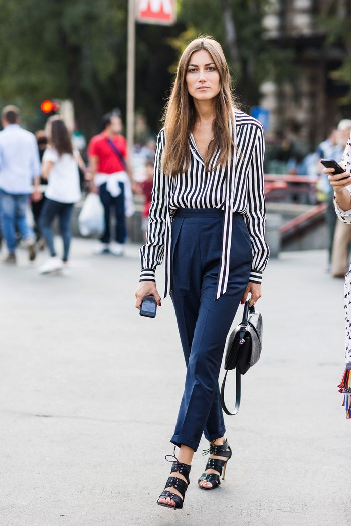 16 Navy Blue Pants Outfit Ideas For Spring  Who What Wear-6543