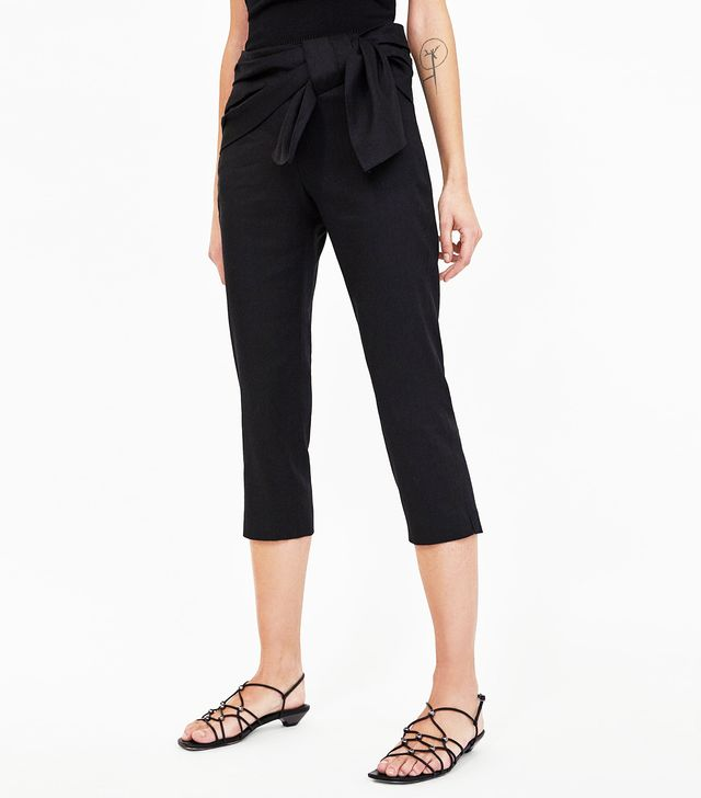 Zara Trousers With Draped Bow