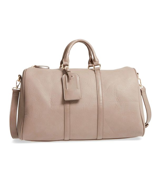 Cassidy Faux Leather Duffel Bag