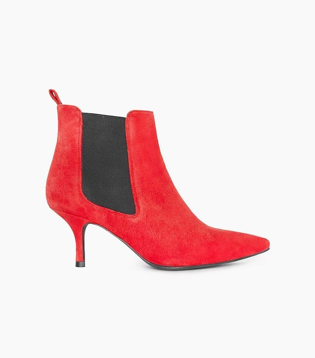 Anine Bing Stevie Boots in Red Suede