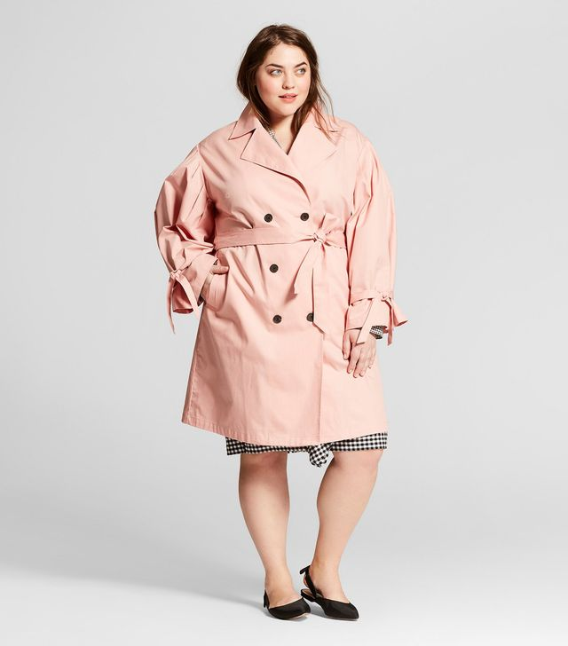 Who What Wear Puff Sleeve Trench Coat