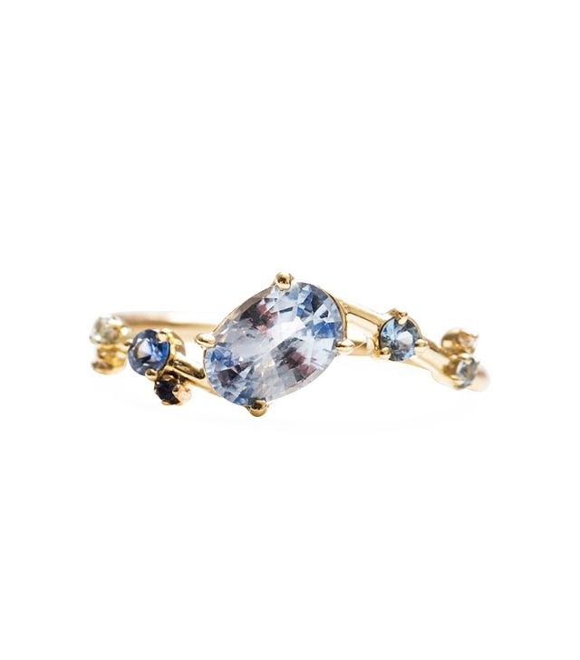 Sapphire Crossover Ring