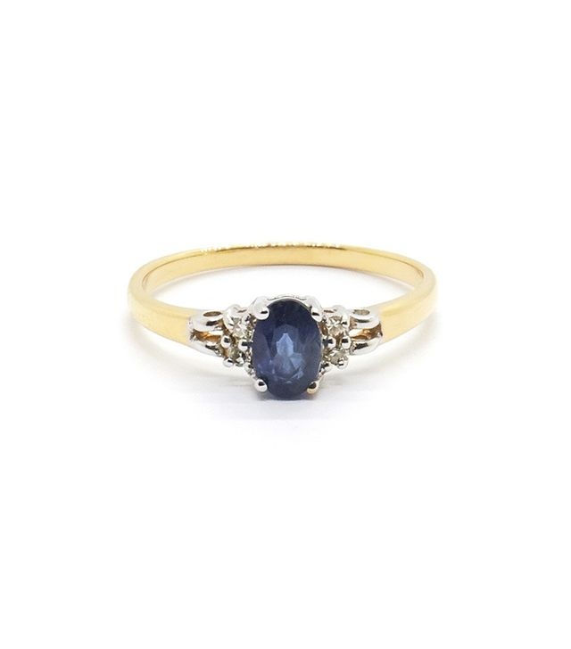Vintage Sapphire & Diamond Engagement Ring