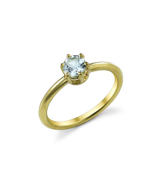 Brilliant Cut Fine Aquamarine Ring