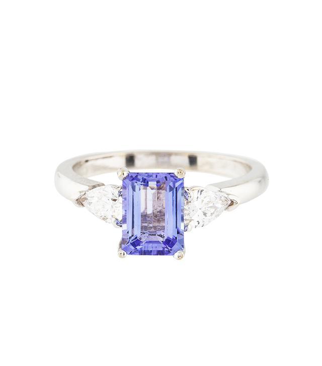 18k Tanzanite & Diamond Cocktail Ring