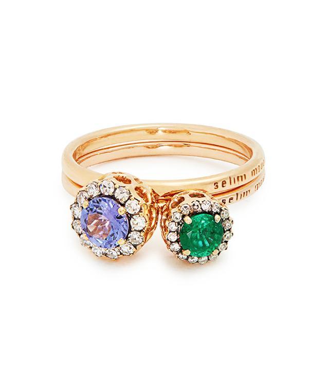 Diamond, Emerald, Tanzanite & Pink-Gold Rings