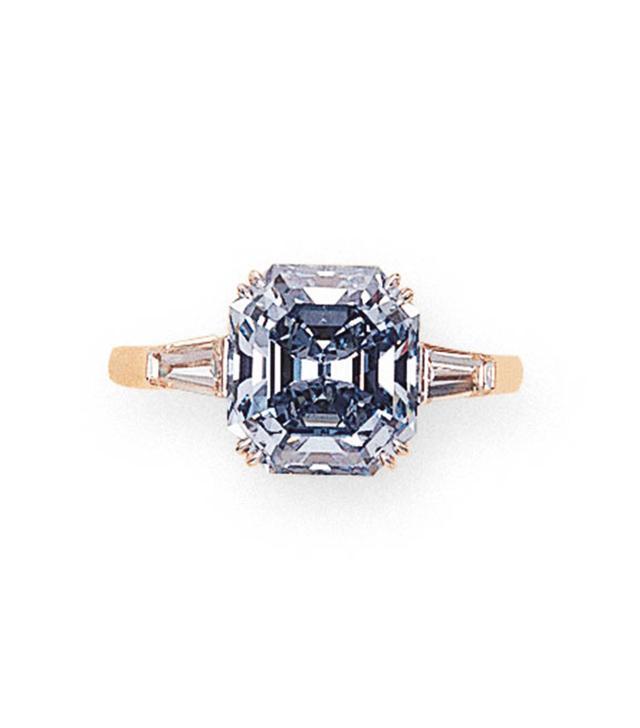 A Rare Fancy Vivid Blue Diamond Ring