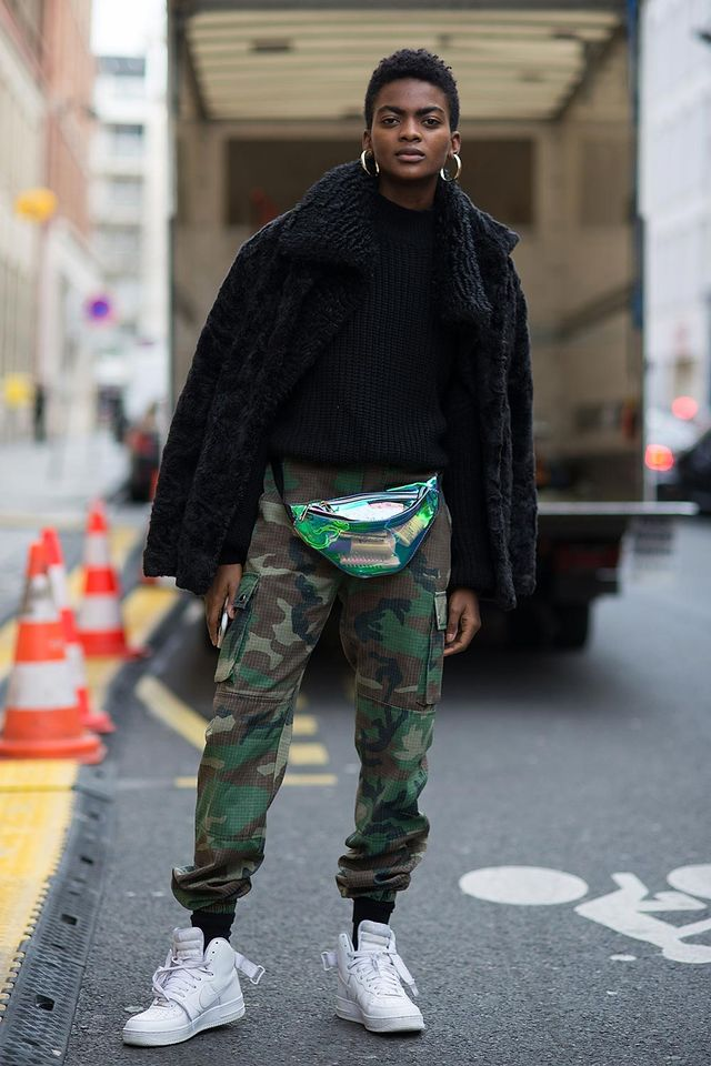 Athleisure-inspired camo outfit