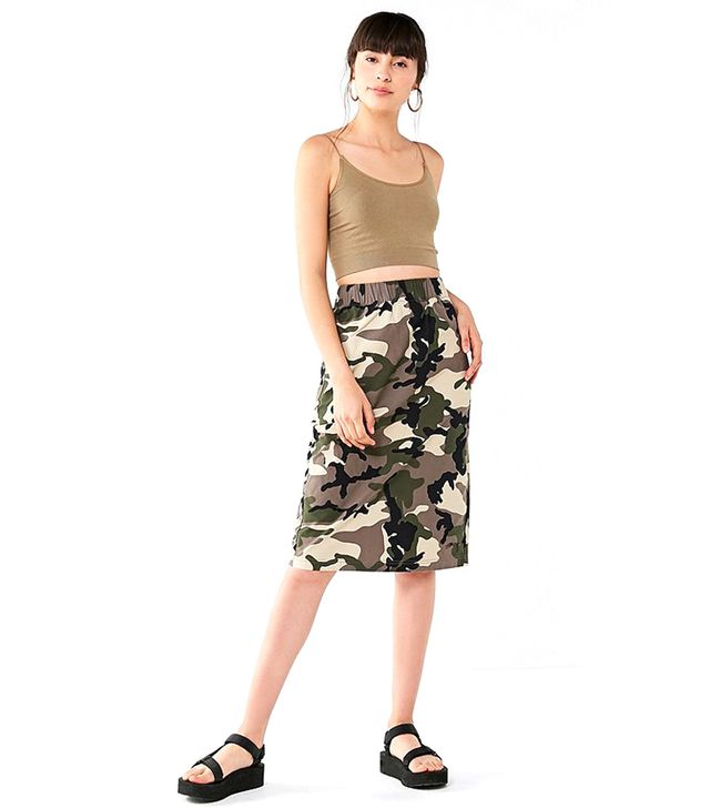 Lenny Camo Midi Skirt