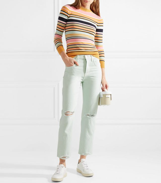 Wynne Distressed High-rise Straight-leg Jeans