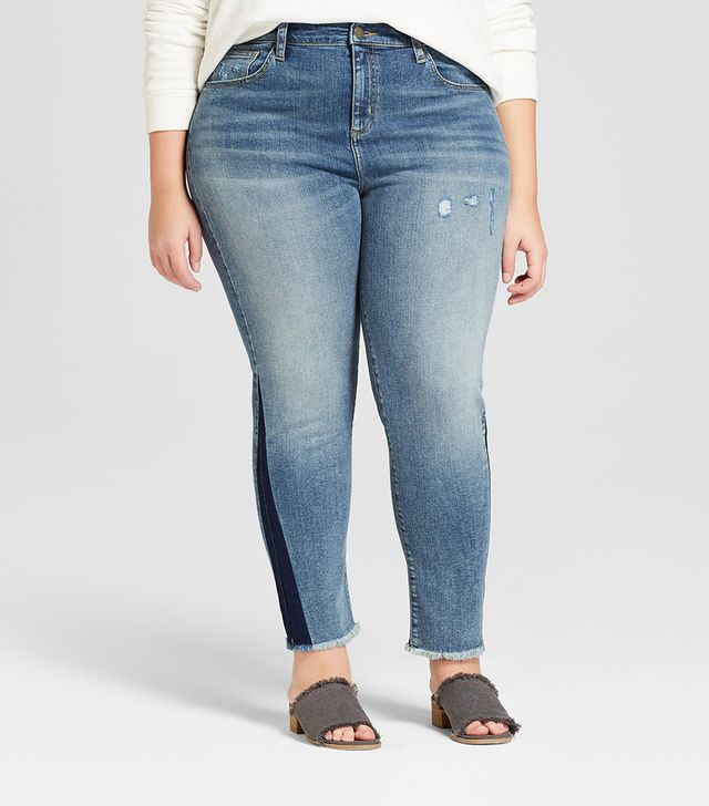 Universal Thread for Target Raw Hem Straight Jeans