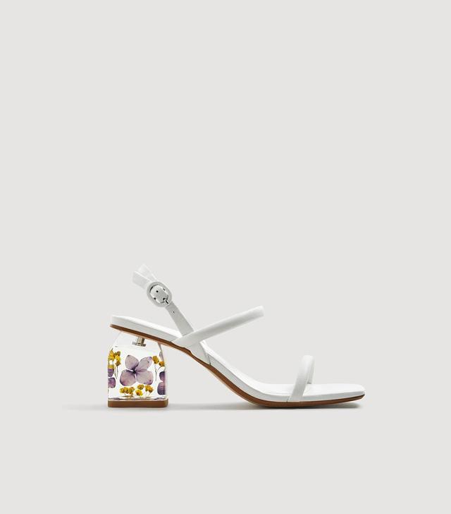 Mango Flowered Heel Sandals