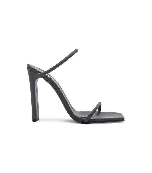 Yeezy Season 6 Rubberized Leather Minimal Sandals
