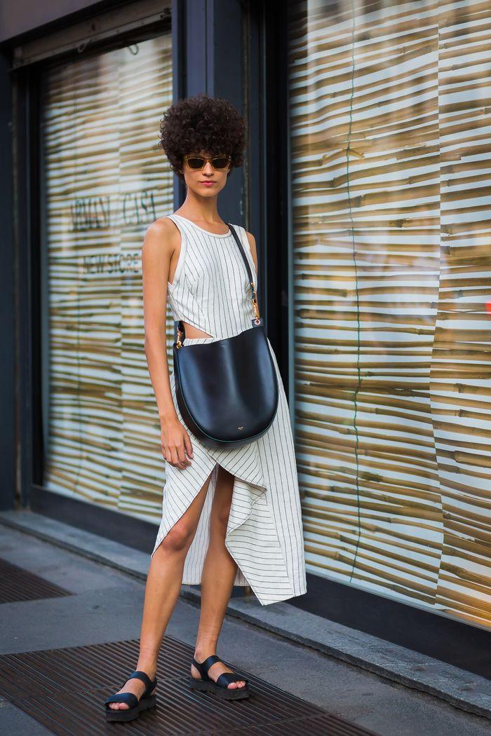 The shoes to wear with a white dress