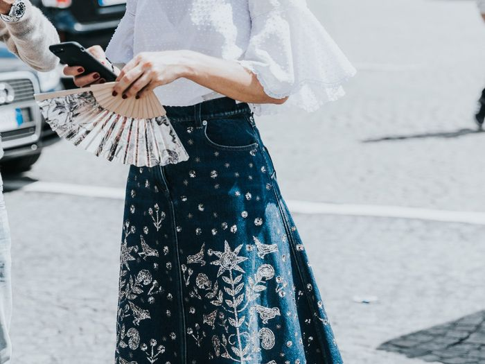 16 Embroidered Denim Skirts to Wear All Spring