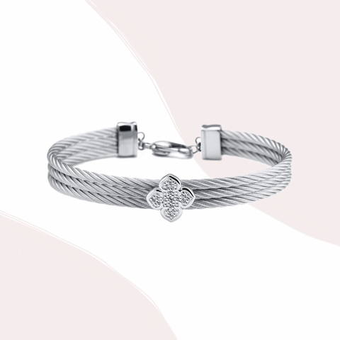 charriol steel cable bracelet