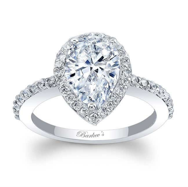 Barkev's Pear Shapred Engagement RIng