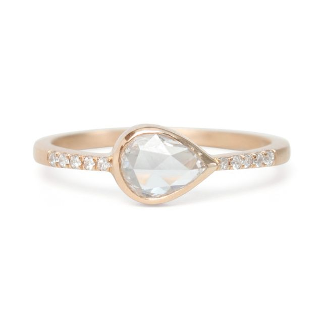 Gillian Conroy Teardrop Diamond Pavé Ring
