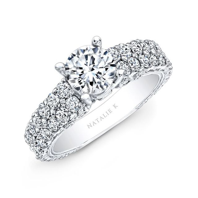 Natalie K Pave Diamond Engagement Ring