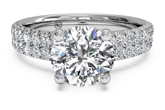 Ritani Double French-Set Engagement Ring