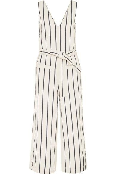 Striped Cotton And Linen-blend Jumpsuit