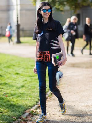 This Is How to Wear Running Shoes With Jeans