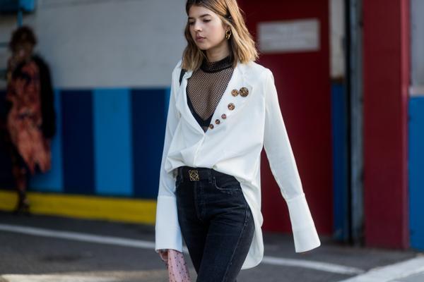 WHO: Talisa Sutton WHAT: New York Fashion Week WEAR: Ellery top, Citizens of Humaity jeans, Loewe belt